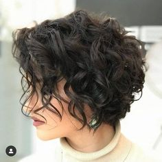 Haircuts For Curly Hair, Curly Hair Cuts, Curly Hair Styles, Short Haircuts, Bobs For Curly Hair, Short Hair Curly Styles, Pixie Cut Wavy Hair, Hair Short Bobs, Short Curly Bob Haircut