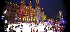 A világ legnagyobb mobil jégpályája nyílik meg Bécsben Austria, Times Square, Street View, Places, Travel, Vienna, Pictures, Viajes, Destinations