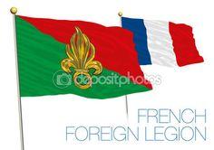 Bandiera della Legione straniera francese, Francia — Vettoriali Stock © frizio…