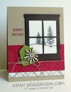 Stampin' Up! Happy Scenes stamp set Christmas Card Stampin' Up! Holiday Catalog #stampinup www.juliedavison.com
