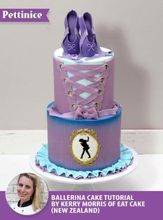 How to create a two tier ballerina cake by Pettinice Ambassador Kerry Morris.