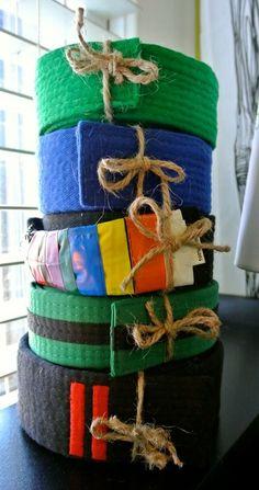awesome karate belt display