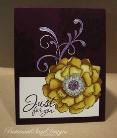 YELLOW BLENDED BLOOM by Butternutsage - Cards and Paper Crafts at Splitcoaststampers