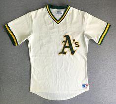 0770fd81764 OAKLAND A's Jersey Late 70's Early 80's Vintage / Rare Sewn Sand Knit  Medalist #20/ MLB Baseball Uniform Murray Armas UsA Sz 40