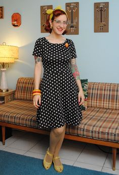 Lady Skater dress pattern from Kitschy Coo | By Gum, By Golly #sewing