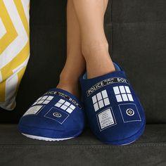Think Geek :: Doctor Who TARDIS slippers