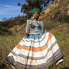 African Wedding Dress, African Print Dresses, African Fashion Dresses, African Dress, Fashion Outfits, Emo Outfits, Xhosa Attire, African Attire, South African Traditional Dresses