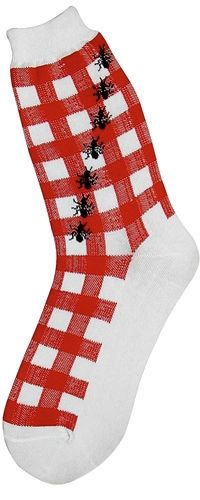 Picnic Ants Socks l would wear these! Silly Socks, Crazy Socks, Funny Socks, Cute Socks, Ant Crafts, Stocking Tights, Fashion Socks, Summer Crafts, Summer Fun