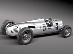 Auto Union Type C 1936 3D Model .max .obj .3ds .fbx .c4d .lwo .lw .lws