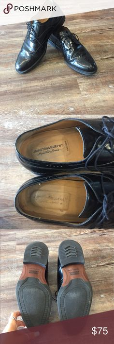 Johnston & Murphy Men's Dress shoe- Sz 10 These dress shoes are perfect for work or church. Small scuffs shown in last two pictures. Overall these shoes are in great condition! Johnston & Murphy Shoes Oxfords & Derbys