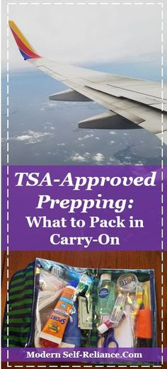 TSA Approved Prepping: What's in my carry-on bag? Carry-on items for being prepared, safe and approved by the TSA. Things to pack when flying to be ready to face any emergency; in the air or on the ground. Carry On Bag Essentials, Carry On Packing, Packing Tips For Travel, Travel Essentials, Travel Hacks, Packing Hacks, Travel Expert, Airplane Carry On, Get Home Bag