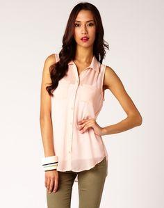 Sleeveless Pocket Shirt - Glassons