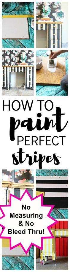 How to Paint the Perfect Stripes | Refunk my Junk | Furniture Painting Tips & Painting Stripes