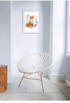 Fox print, woodland prints, fox art, woodland art prints, fox art print, fox home decor, woodland home decor, woodland fox decor, fox decor