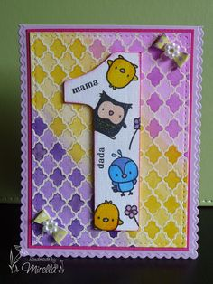 #MamaElephant 1st bday card