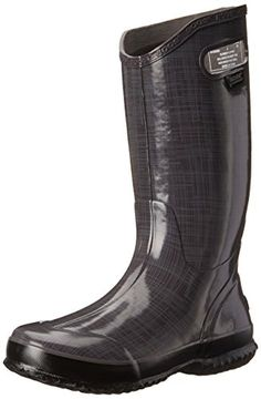 Bogs Womens Linen Rain Boot Dark Gray 12 M US *** You can get additional details at the image link.