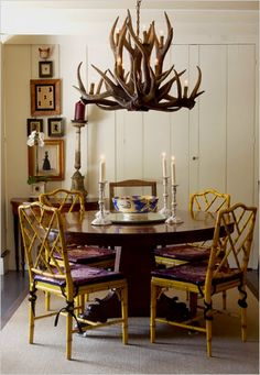This post about decorating with antlers and winter design trends was published by Nazmiyal Antique Rugs in Manhattan, New York City. Antler Chandelier, Chandeliers, Home Board, Little Houses, Home Decor Trends, Antlers, Plank, Design Trends, Sweet Home