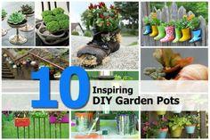 10 Inspiring DIY Garden Pots