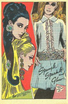 Romance comic art by Tony Abruzzo Vintage Comics, Mode Vintage, Vintage Ads, Vintage Barbie, Pop Art, Fashion Illustration Vintage, Illustration Art, Fashion Illustrations, Alphonse Mucha