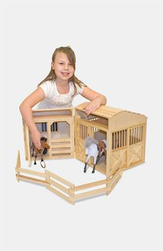Melissa & Doug Folding Horse Stable available at #Nordstrom