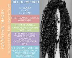 The L.O.C. Method for moisturizing natural hair
