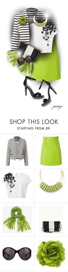 """Gucci Green Skirt"" by rockreborn ❤ liked on Polyvore featuring Gucci, Carolina Herrera, GiGi New York, Valentino and Fantasy Jewelry Box"
