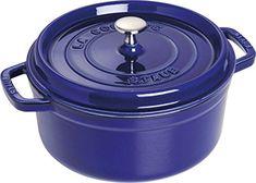 Staub Round Cocotte Dark Blue 24 cm - 9.3 inch 20 years warrenty