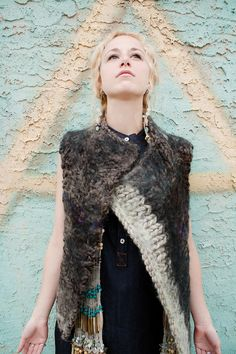 knit chunky vest by Amanda Henderson Knits ... unaffordable yet inspirational ;D