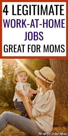 Work From Home Jobs for Moms - If you're a mom looking to make extra money from home, it can be tough to know how to get started. Luckily, there are plenty of great ideas on how to make money from home. Here are 4 great work from home jobs for moms, including one that I make a full time income doing!