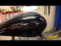 ▶ Finishing a paint job on motorcycle a gas tank at the UGG, sanding and detail work - YouTube