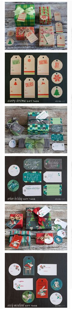 25 free printable gift tag downloads from Ellinée #Christmas #Holiday #Gifts