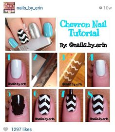 Chevron Nail Tutorial with Tape