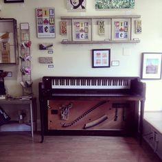Repurposed spinet piano desk - Glad to be showing it in a gallery as art!