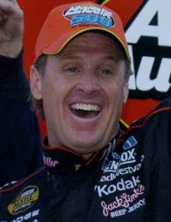 """""""Once I got in the lead, I just talked to myself. 'Get smooth. Hit your marks. Don't screw up. Don't give this thing away.' """" -Rusty Wallace    *This was an awesome race!"""