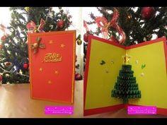 Tarjetas navideñas 3D paso a paso http://ini.es/1uKbqIE #DIY, #Manualidades, #Navidad, #Video