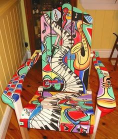 painted adirondack chair! #painted #furniture