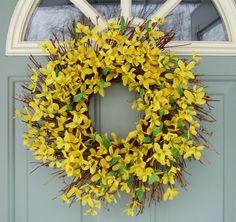 Spring Wreath -- Forsythia Wreath