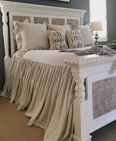35 Amazingly Pretty Shabby Chic Bedroom Design and Decor Ideas - The Trending House Home Decor Bedroom, Modern Bedroom, Bedroom Furniture, Bedroom Ideas, Kitchen Furniture, White Bedroom, Furniture Stores, Farm Bedroom, Furniture Ideas