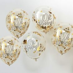 We love confetti balloons and these ones from partydelights.co.uk would be a lovely addition to your baby shower decorations! Perfect for a metallic or gold baby shower theme.