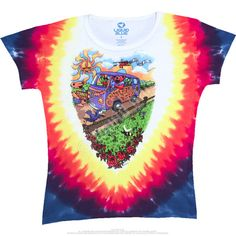 SUMMER TOUR BUS GRATEFUL DEAD TIE-DYE LONG LENGTH – Blue Mountain Dyes - Free Shipping over $10