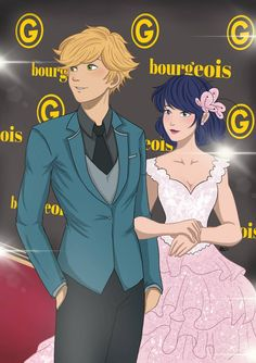 Marinette and Adrien at the red carpet premiere from Miraculous Ladybug and Cat Noir Anime Miraculous Ladybug, Miraculous Ladybug Fanfiction, Meraculous Ladybug, Ladybug Comics, Ladybug Cakes, Les Miraculous, Ladybug Und Cat Noir, Miraculous Ladybug Wallpaper, Marinette And Adrien