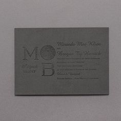 Make your mark. Faux leather wedding invitations in rustic grey are stamped with your monogram and wording. Also available in brown faux leather. Black And White Wedding Invitations, Traditional Wedding Invitations, Unique Invitations, Invites, Leather Texture, Gray Weddings, Make Your Mark, All That Glitters, Wedding Stationery