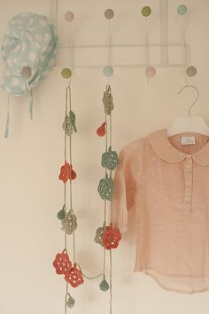 Bouquet and bobbles garland by Claire Montgomerie