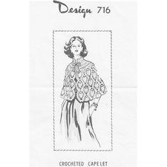 Pineapple Cape Crochet Pattern Design 716, 3.00