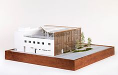 exclusive model images of shigeru ban's aspen art museum in colorado