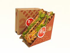 Design a sandwich to-go packaging