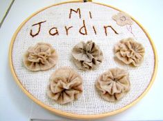 Garden hoop....how cute is this? #homedecor #gift #wallhanging $48 Hand Embroidery Stitches, Hand Stitching, Handmade Flowers, Columbia, Hoop, Blush, My Favorite Things, Cool Stuff, My Love