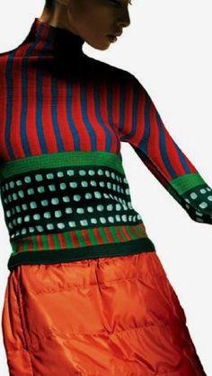 Knitwear Fashion, Knit Fashion, Fashion Outfits, Womens Fashion, Quirky Fashion, Mode Style, Knitting Designs, Refashion, Pulls