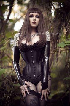 "pelennanor: ""  Model: Psylocke Corset: BizarreDesign Photographer: Belinda Bartzner - Photography """