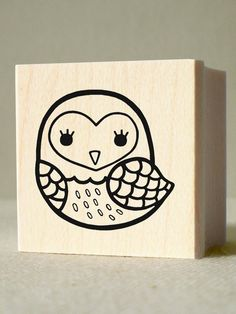 Cartoon Drawing Design The Light Owl Rubber Stamp - wood mounted, deep etched, red rubber stamp - Cartoon Drawings, Easy Drawings, Logic Design, Line Texture, Doodles, Stamp Carving, Little Owl, Binder Covers, You Draw